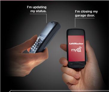 I'm updating my status. I'm closing my garage door.
